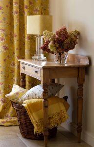 Yellow fabric photoshoot for Jacqueline Milton UK by Kadi Berry Photography, Pembrokeshire, West Wales