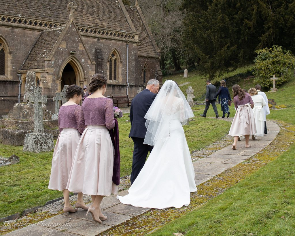 The Bridal party at St Etheldreda's Church, St Audries Park, Somerset... by Kadi Berry Photography, Pembrokeshire, Wales