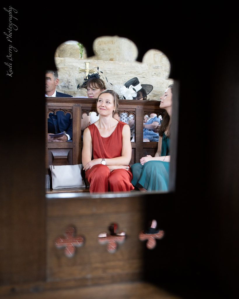 Marriage vows with friends in St Michael's Church... by Kadi Berry Photography, Wales