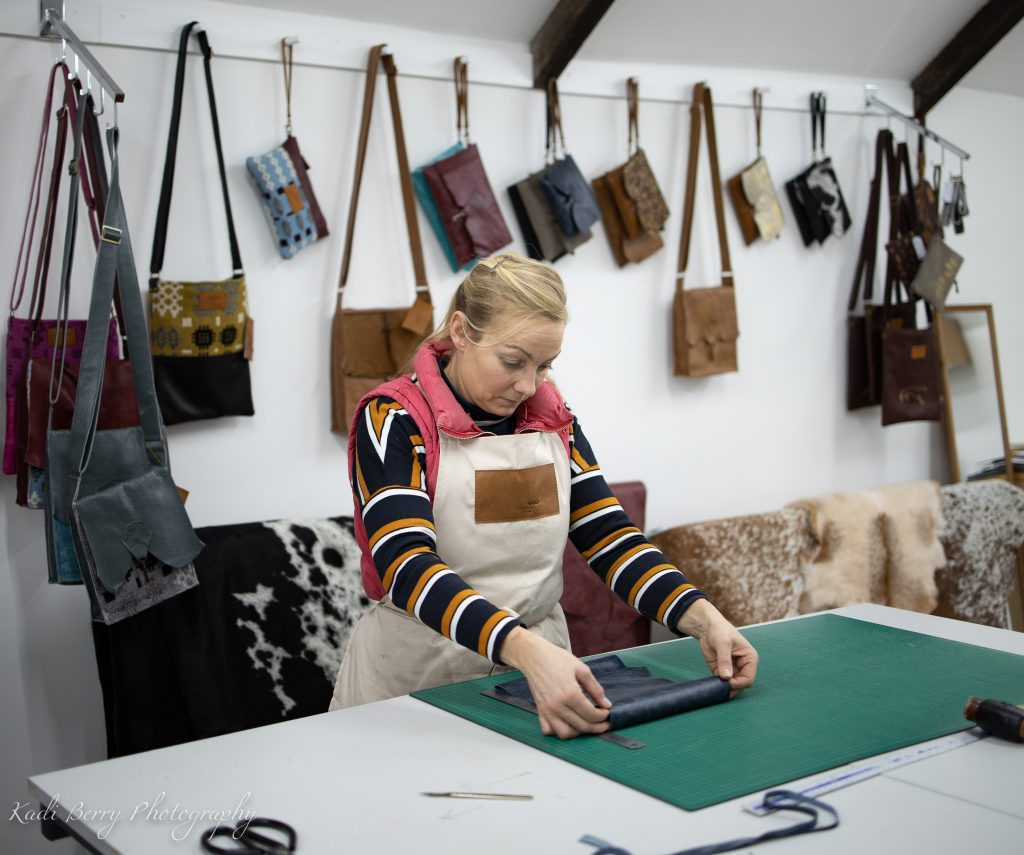 Coterie Leather Bag - checking the dimensions... by Kadi Berry Photography